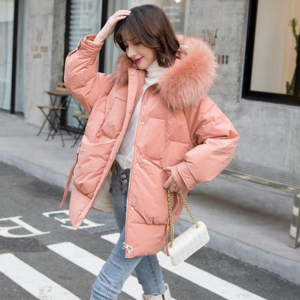 2020 Fashion New Winter Jacket Women Hooded Parka Women Long Sleeve Jacket Coat White Duck  Down Outerwear  Female Jacket  Q90