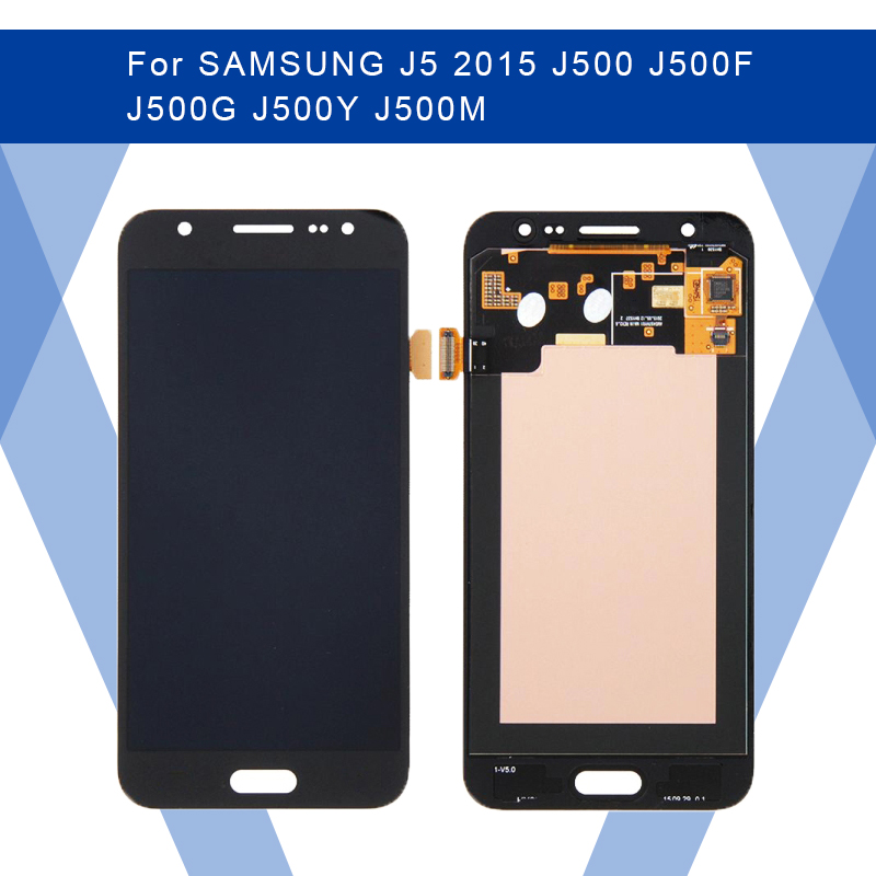 For SAMSUNG J5 2015 <font><b>J500</b></font> J500F J500G J500Y LCD <font><b>AMOLED</b></font> Display Screen+Touch Panel Digitizer Assembly For SAMSUNG Display Original image