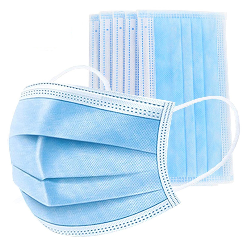 Disposable Face Masks Non-woven Soft Elastic Earloops Masks 3 Layers Protective Breathable Mouth Masks Anti-Dust Masks In Stock