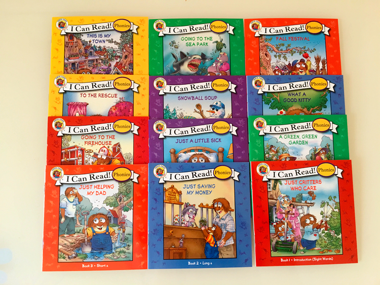 12 Books/set I Can Read Phonics Little Critters In English Language Picture Book Children Kids Pocket Story Books Learning Toys