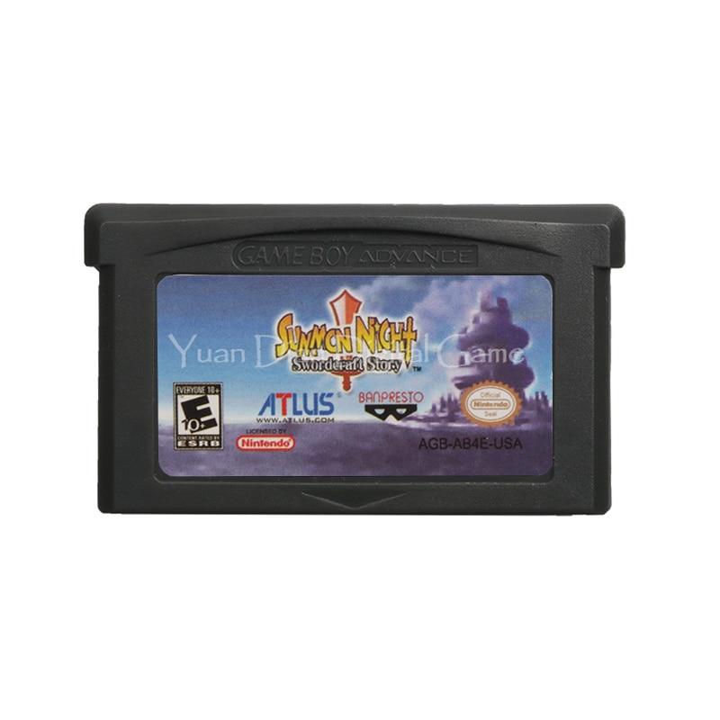 For Nintendo GBA Video Game Cartridge Console Card Summon Night Swordcraft Story English Language US Version