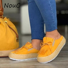 NouC Women Thick High Heels Shoes Women Slip On Bowknot Soli