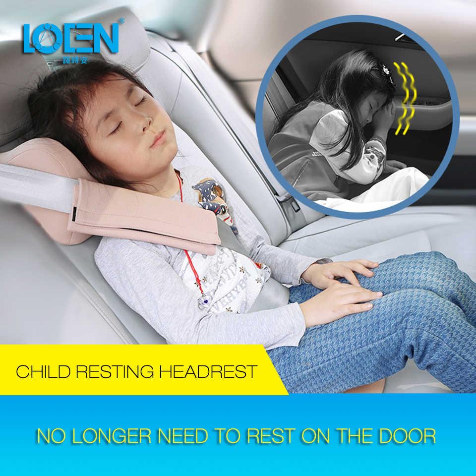 Bambini Sedile Posteriore Poggiatesta Auto Cuscino Del Collo per I Bambini Auto Supporto Della Copertura a Forma di U Gomma Piuma di Memoria Cuscino per Il Collo accessori per Auto