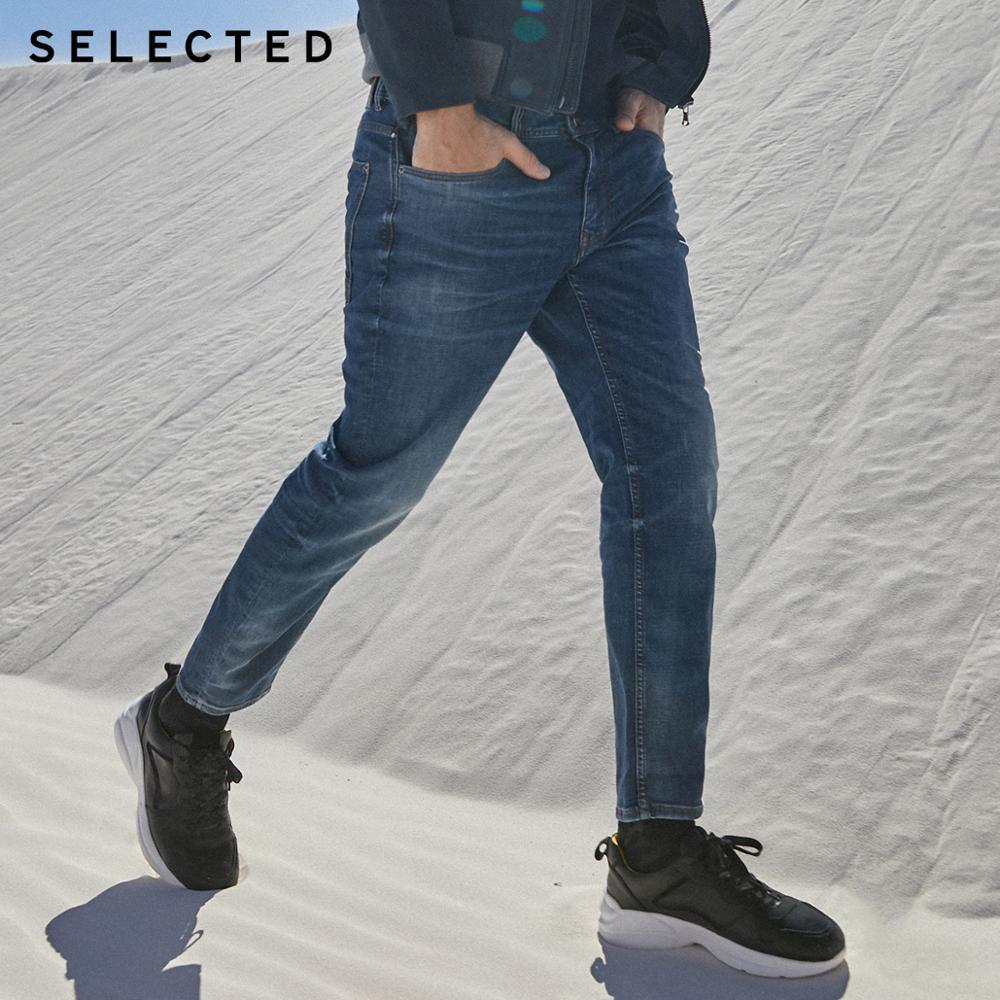 SELECTED Men's Slim Fit Stretch Crop Jeans I|419332531