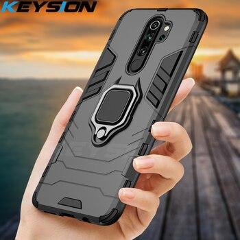 Перейти на Алиэкспресс и купить Ударопрочный чехол KEYSION для Red mi Note 8 Pro 9s 8 8A 7 7A 8T K30 K20, задняя крышка для телефона xiaomi mi 9T A2 A3 mi 10 9 SE mi 9 lite