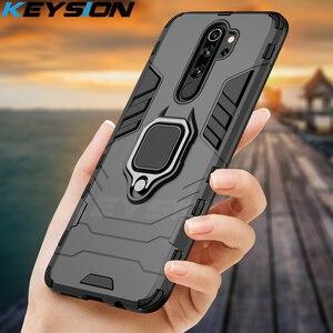 KEYSION Shockproof Case for Redmi 9A 9C Note 8 Pro 9s 8 8A 7 7A 8T K20 Back Phone Cover for Xiaomi Mi 9T A2 A3 Mi 9 SE mi 9 lite