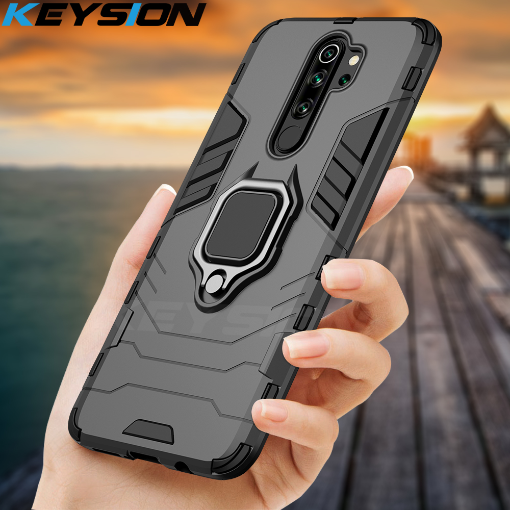 KEYSION Shockproof Case For Redmi Note 8 Pro 8 8A 7 7A 8T K20 Magnetic Back Phone Cover For Xiaomi Mi 9T A2 A3 Mi 9 SE Mi 9 Lite