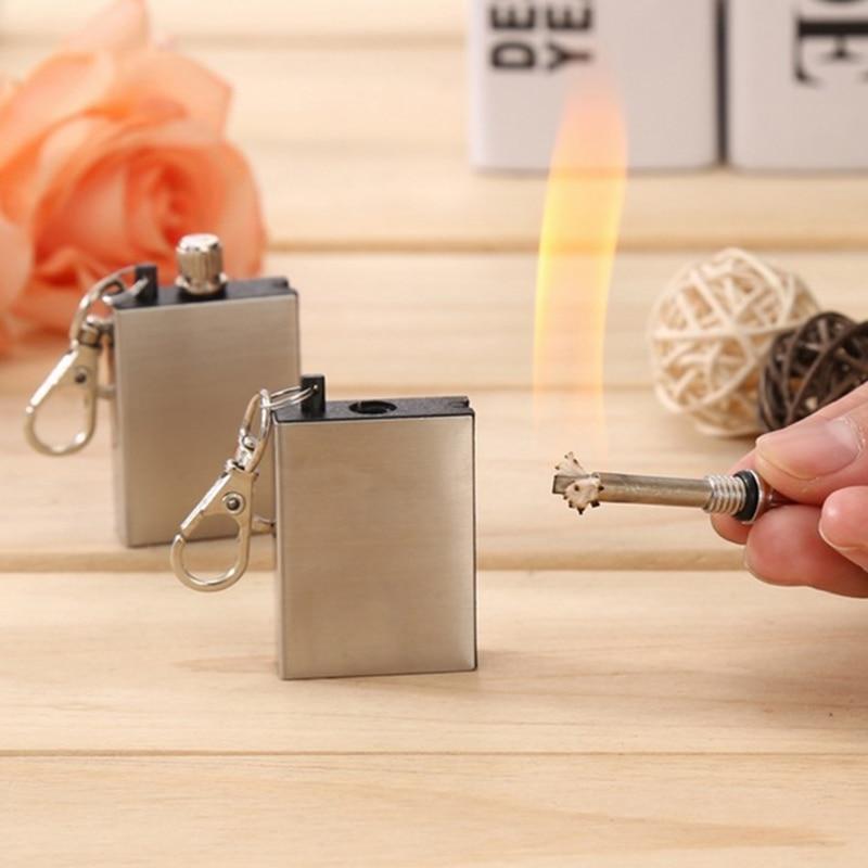 2Pcs Pocket Fire Starter,Emergency Fire Starter Magnesium Flint Striker Camping Lighter