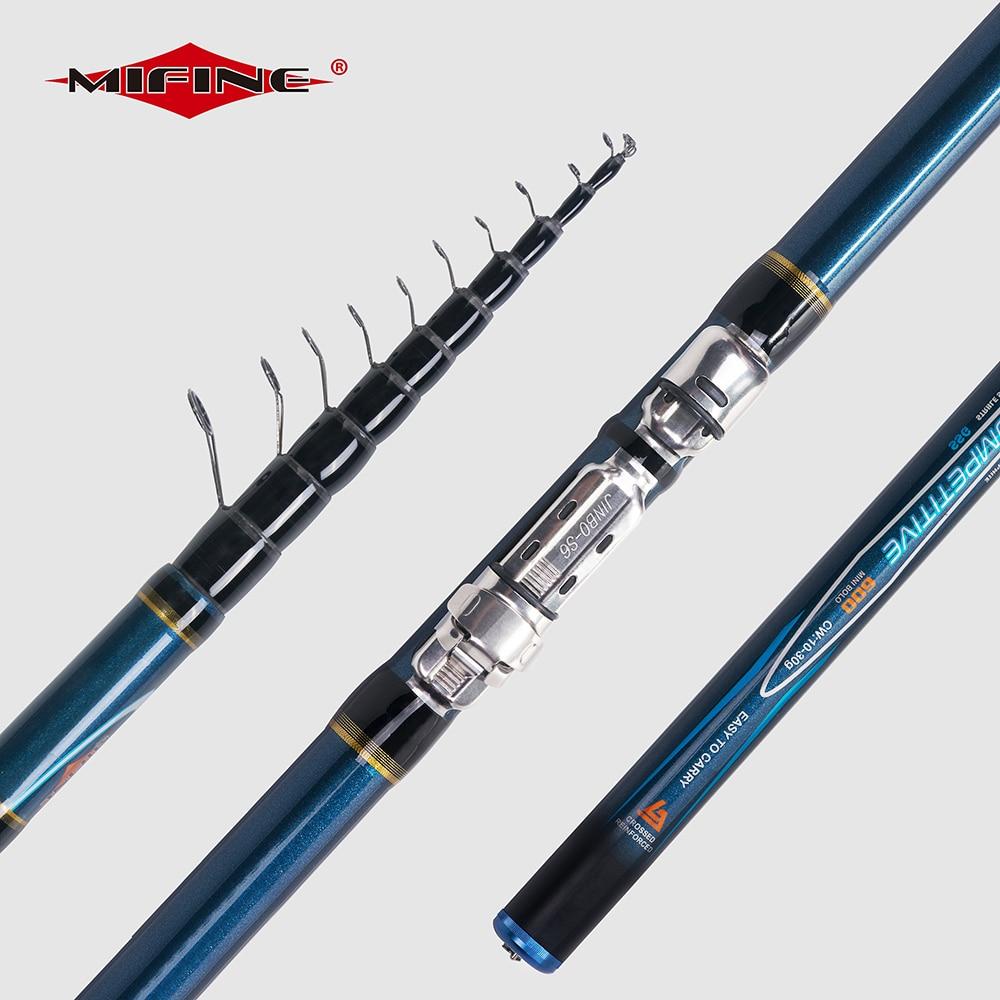 MIFINE конкурентоспособная телескопическая рыболовная удочка 4/4.5/5/6 м высокоуглеродистая форель ультра-светильник для путешествий Спиннинг П...