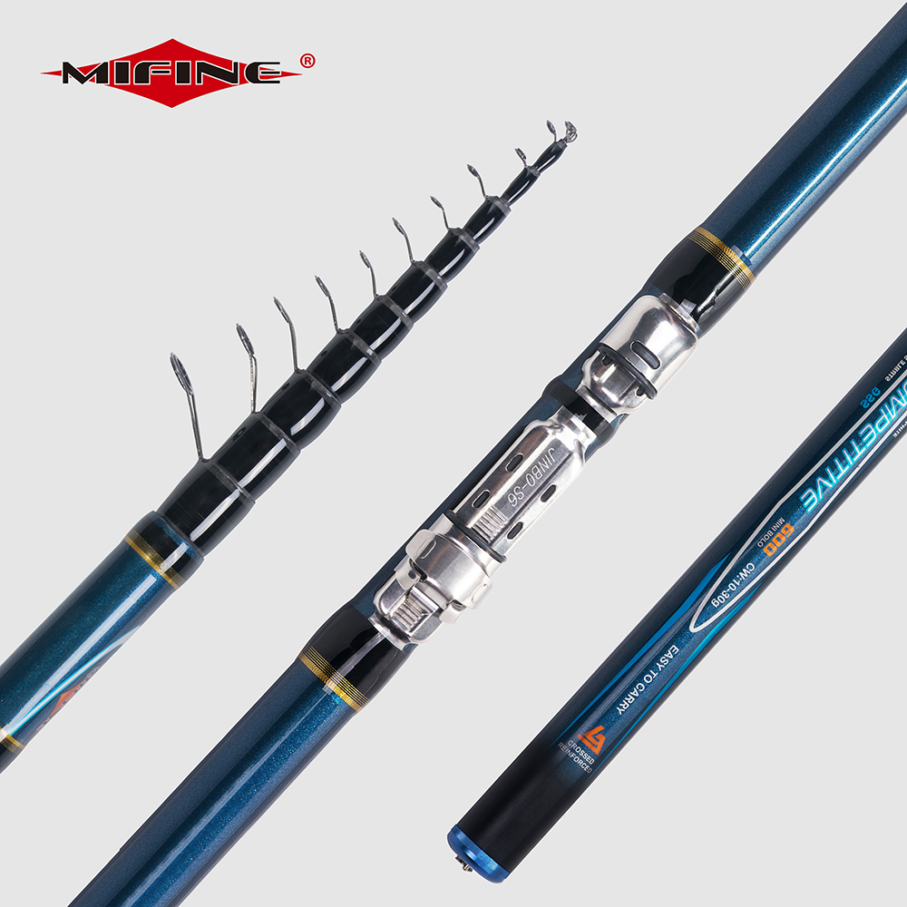 MIFINE COMPETITIVE Telescopic Bolo Fishing Rod 4/4.5/5/6M HIGH CARBON Trout Travel Ultra Light Spinning float fishing 10-30G title=