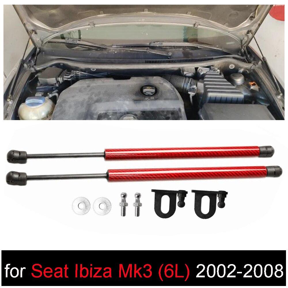 Передняя крышка капота для SEAT Ibiza Mk3 (6L) 2002-2008, модифицирующие газовые стойки, амортизатор, подъемник, поддерживает амортизатор автостайлинга