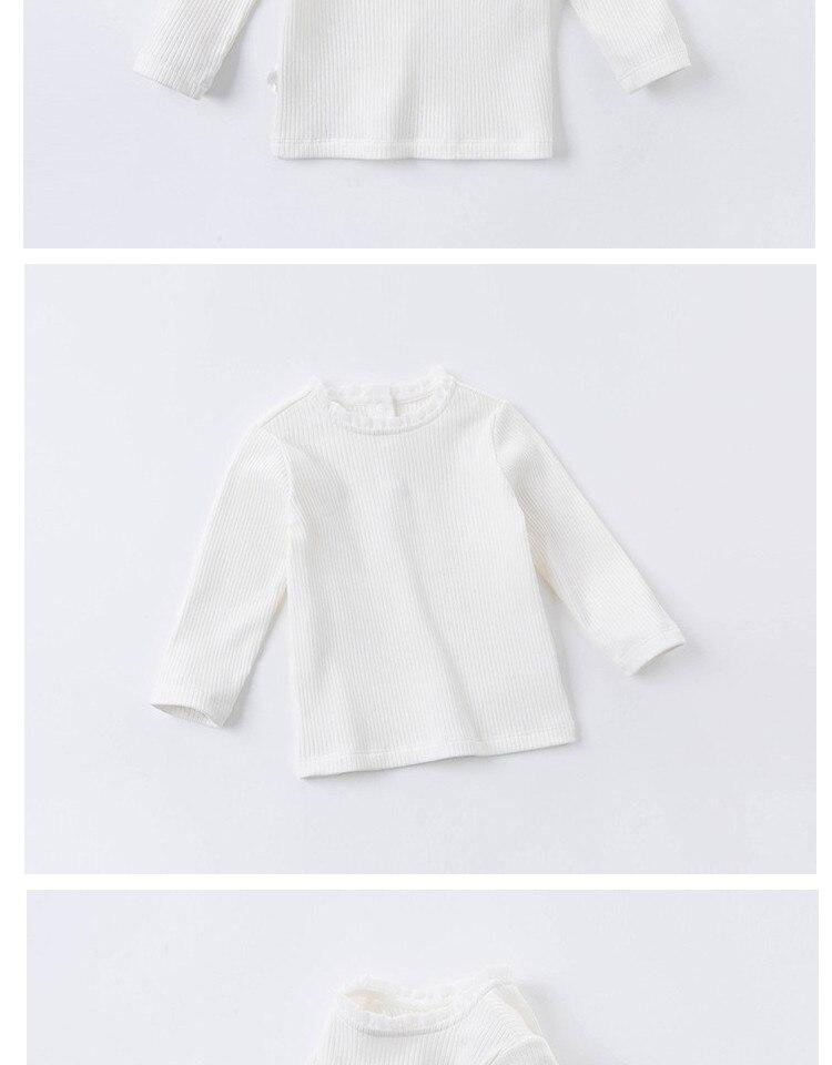 H392ddd3b77b045eca0f9c5c7acbd6639m DB15908 dave bella autumn baby girls cute solid T-shirt children s girl kids fashion tees