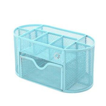 Organizer Pencil And Pen Holder Office Desk Supplies Desktop Metal Storage Mesh Cabinet with Portable Container family  19JUL1