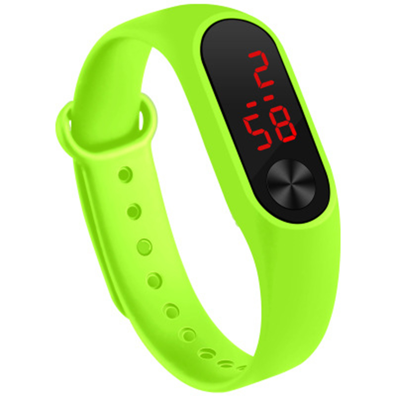 Men Women Sports Watch LED PU Strap For Couple FEA889