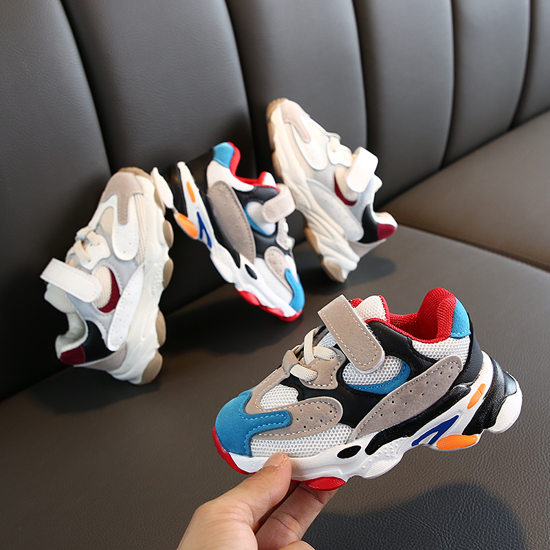 Fashion Children Casual Sneakers Baby Boys Shoes For Girls Mesh Breathable Anti-Slip Letters Shoes Toddler Soft Soled Shoe