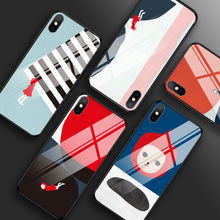 Tempered Glass Case for iPhone 11 X XS MAX XR Cartoon Shockproof Case for iPhone 7 8 Plus For iPhone 6 6s Plus 5 5S SE Cover tempered glass case for iphone xr x xs max 11 pro max flower shockproof case for iphone 6 6s 7 8 plus 5 5s se color back cover