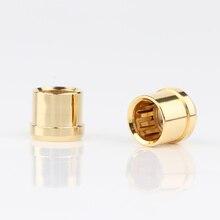 Preffair позолоченная штепсельная Вилка RCA, короткий телефонный разъем, защитный разъем RCA, защитная крышка s