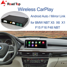 Wireless CarPlay for BMW NBT,EVO X5 F15 X6 F16 2014 2020 X1 F48 2016 2020, with Android Mirror Link AirPlay Car Play Function