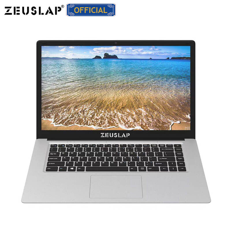ZEUSLAP 15.6inch Intel Quad Core CPU 4GB Ram 64GB EMMC Windows 10 System 1920*1080P FHD Screen Netbook Laptop Notebook Computer
