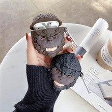 Teyomi 3D мультфильм симпатичные чехол Кинг-Конг горилла для Airpods 1/2 Мягкий силиконовый Наушники Наушники дети/мальчиков/девочек