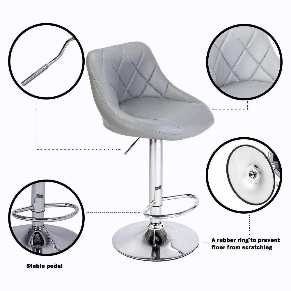 【UK Warehouse】 2pcs Adjustable High Type With Disk No Armrest Rhombus Backrest Design Bar Stool {Free Shipping UK} Drop Shipping