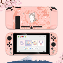 Geekshare-funda rígida con dibujo de cuento para Nintendo Switch, carcasa trasera para Nintendo Switch, color rosa, Gato Sakura