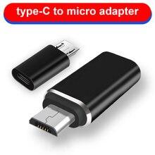 Micro usb macho para tipo c fêmea adaptador conversor conector liga de alumínio para telefone tablet nk-compras