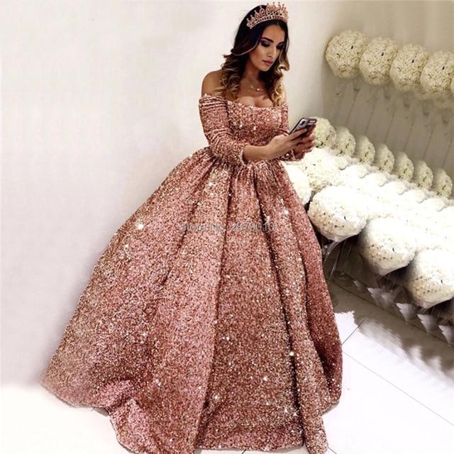 Coral lujo barco cuello vestido De fiesta vestido De noche lentejuelas vestido De graduación hasta el piso Formal Robe De Soiree aigoody Medio Oriente Dubai
