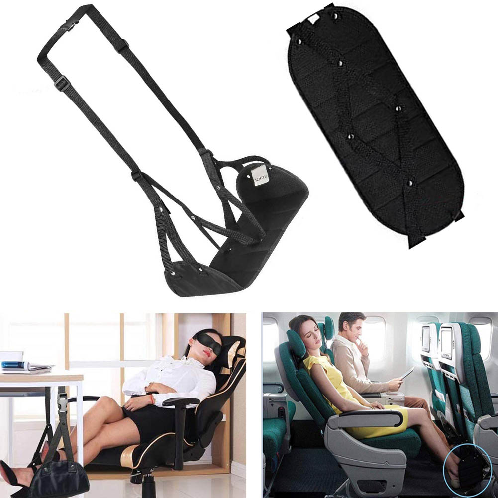 Portable Footrest Memory Foam Flight Carry-on Foot Rest Travel Pillows Leg Hammock Airplane Relieve Feet Swelling Footrest image