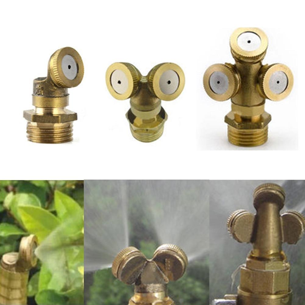 1/2 Brass Agricultural Mist Spray Nozzle Garden Irrigation System Lawn Sprinkler Irrigation Nozzle Sprayer To Cool Dust