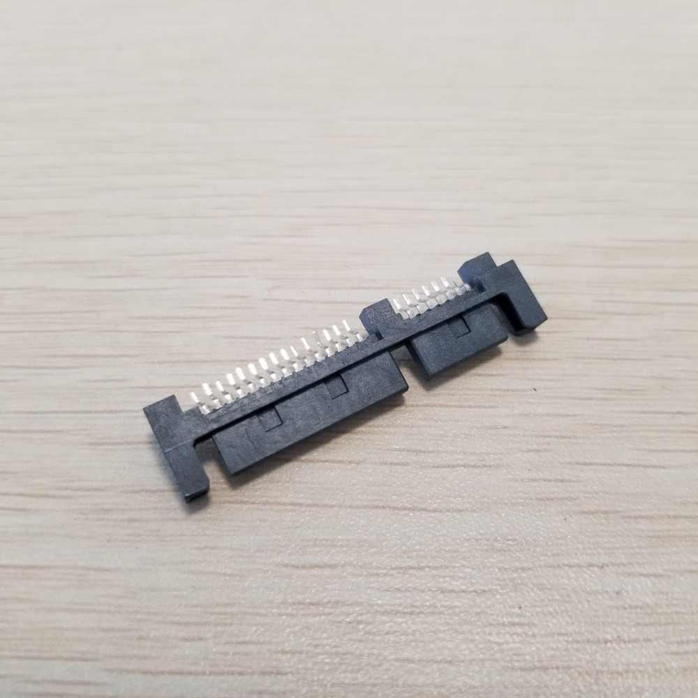 Pwb masculino do soquete 22pin do conector 7pin + 15pin de smt da relação do disco rígido de sata 90 graus à parte superior h: 1.4mm