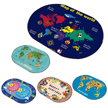 Baby Cartoon Play Mat 0.6cm Thick Crawling Mat Infant Carpet Rug Animal Car Developing Mat For Children Game Pad Birthday Gifts double surface baby play mat 200 180 0 3cm crawling mat baby carpet animal car dinosaur developing mat for children game mats