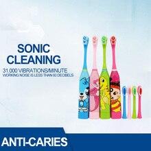 Детская электрическая зубная щетка без перезаряжаемой зубной щетки для детей двухсторонняя Чистая электрическая зубная щетка для детей с 2 шт