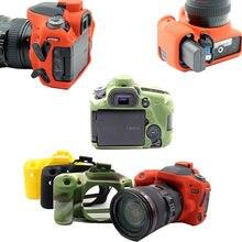 Silicone dslr câmera caso capa saco para canon eos r 70d 80d 90d 6d 6d2 6d mark ii 850d t8i 1300d t6 1500d