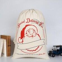 Drawstring Backpack Bag Organizer Christmas-Gift Cotton Bagtravel Large-Capacity Portable