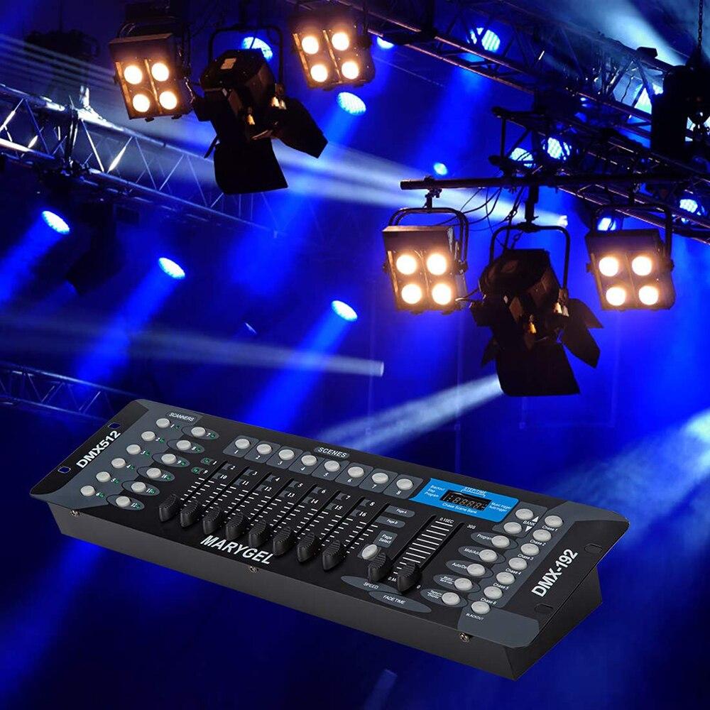 Где купить DJ оборудование DMX512 Контроллер 192 консоль для DJ вечерние светодиодный движущийся пар сценическое освещение