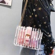 Women's Messenger Bag New Design Bag Messenger Bag Chain Candy Color Jelly Bag 2-pack Handbag Bag Women Bolsa Feminina#38