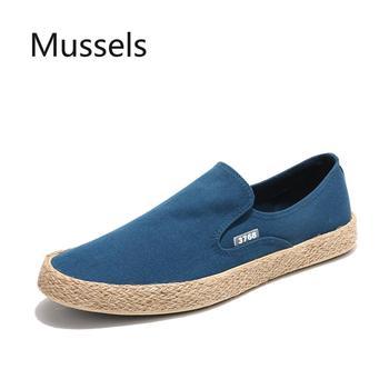 2020 Spring autumn Fashion Men Canvas Shoes Espadrilles Men Casual Slip on Breathable Loafers Men Flats Shoe Zapatos Hombre фото