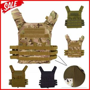 Image 1 - jpc 600D Hunting Tactical Vest Military Molle Plate Carrier Magazine Airsoft Paintball CS Outdoor Protective Lightweight Vest