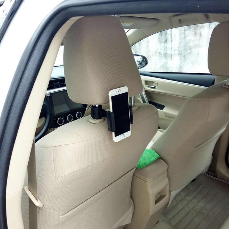 Suporte de carro para encosto de cabeça de carro, suporte preguiçoso para celular, 360 graus de rotação, apoio para o banco traseiro, acessórios para carro