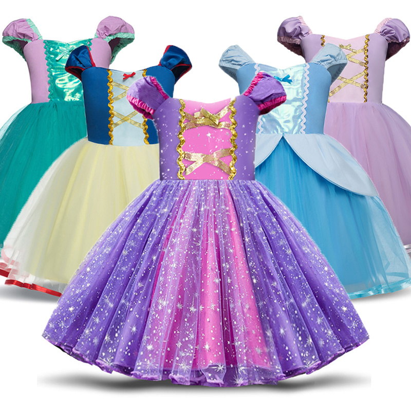 Infant <font><b>Baby</b></font> Girls 1-4Year Princess Costume Halloween Cosplay Clothes Toddler Party Role-play Kids <font><b>Fancy</b></font> <font><b>Dresses</b></font> For Girls image
