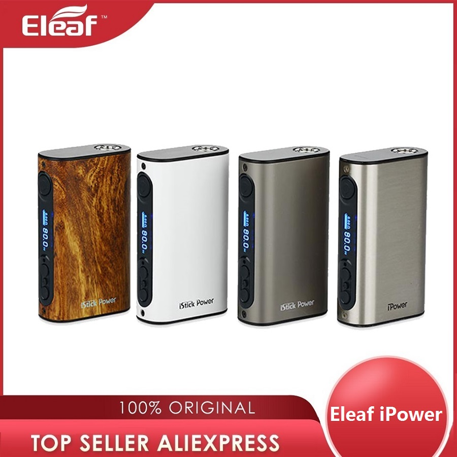 Eleaf iPower 80W TC MOD 5000mAh Eingebaute Batterie elektronische zigarette eleaf istick ipower Box Mod für Melo 3 tank vs IKuun I200