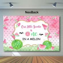 Sweet Melon First Birthday Backdrop Summer Pink Watermelon Photo Background Fruit 1st Party Photography Backdrops