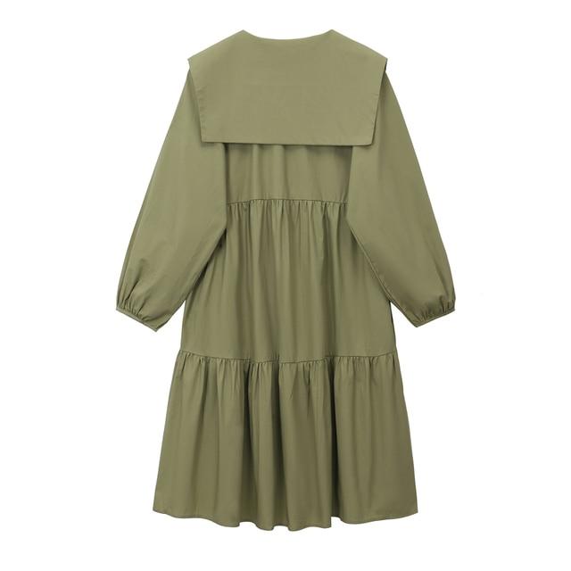 2020 Women Autumn Long Shirt Dresses Casual Loose Long Sleeve Fashion Elegant Office Lady Work Maxi Dresses Cotton Streetwear 4