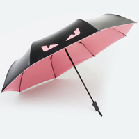 Currently Available Imp Vinyl Sun resistant Creative Folding Parasol UV Protection Parasol Three Fold Vinyl Umbrella|  -
