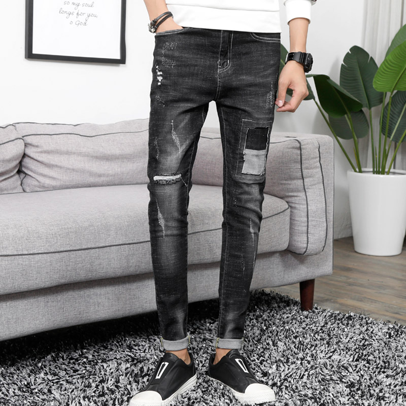 811 Store Owner-Style Men Jeans Washing Trousers Four Seasons MEN'S Trousers Versatile Fashion Men's Trousers Micro Elastic