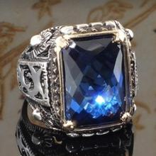 Trendy Crystal Engagement Rings For Women Geometric Square Blue Zircon Cubic ring AAA Female Bridal Wedding jewelry Size 6-10 цена и фото