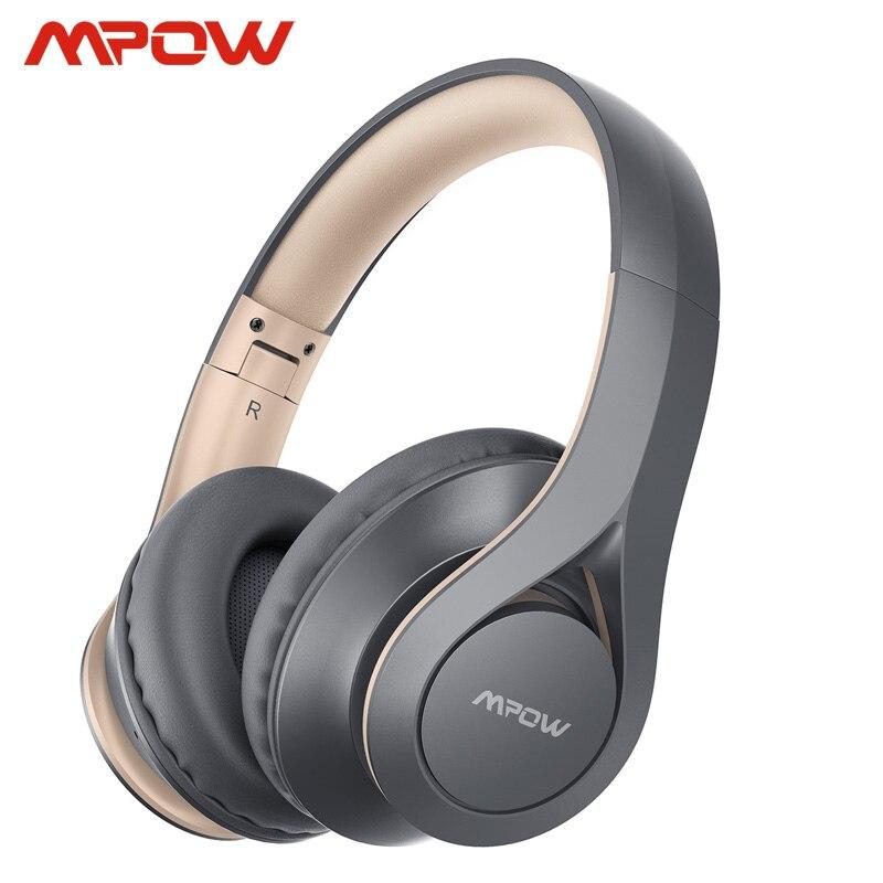 Mpow 059 pro 60h playtime bluetooth 5.0 fones de ouvido sem fio hi-fi estéreo som cvc 6.0 redução ruído para iphone 11 huawei p30