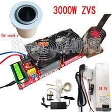 3000W 55A Módulo Motorista Flyback ZVS Alta Freqüência Aquecedor De Indução Aquecedor Boa Dissipação de Calor + Bobina + bomba + poder + cadinho
