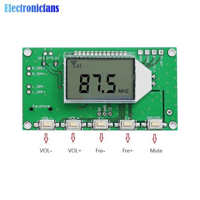 Placa de circuito de micrófono inalámbrico módulo transmisor FM 87MHz-108MHz transmisión de Audio de ordenador DC 3-5V